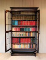 Tall Oak Glazed Bookcase (10 of 10)