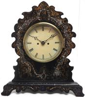 Antique English 8 Day Twin Fusee Bracket clock 8-Day Striking Double Fusee Mantel Clock by H J Wallis (5 of 5)