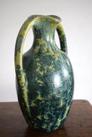 Large Art Nouveau Pierrefonds Crystalline Statement Vase (8 of 11)
