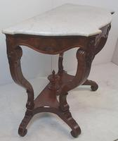 Pair of 19th Century Marble Topped Walnut Console Tables (4 of 9)