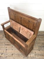 Rustic Pitch Pine Settle Bench (7 of 8)