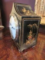 Small Antique Chinoiserie Gilt Mantel Clock (6 of 7)