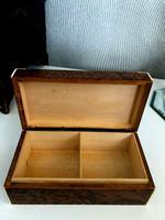 Art Deco Burr Walnut Trinket / Tobacco Box (6 of 7)