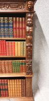 Outstanding Carved Oak Open Library Bookcase (4 of 16)