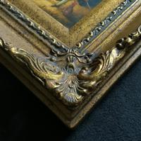 Lovely 18th Century Georgian Revival Gilt-Framed Oil on Panel Portrait Painting (7 of 8)