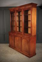 Large Victorian Mahogany Triple Bookcase (4 of 4)