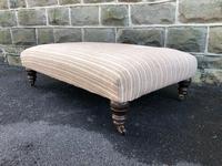 Large Oversized Upholstered Footstool (4 of 5)