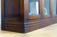 Oak 3 Door 1930s Vintage Bookcase with Keys (20 of 22)