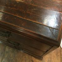 Antique Early Victorian Three Drawer Chest Stained Pine (7 of 12)