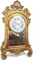 Wow! Incredible French Gilt Mantel Clock Visible Pendulum Glass Panels 8 Day Mantle Clock (4 of 9)