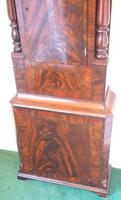 Fine English Longcase Clock D Cowed Manchester 8-day Striking Grandfather Clock Solid Mahogany Case (8 of 19)