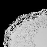 Exceptional Large Solid Sterling Silver Victorian Salver/tray/platter 47cm with Cast Border - Hunt & Roskell - Storr Mortimer & Hunt (17 of 29)