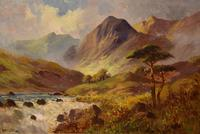 Oil Painting by Francis E. Jamieson - Brora Falls, Sutherland (2 of 5)