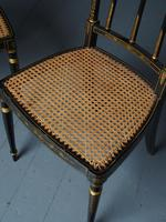 Set of 3 Regency Style Painted Bergere Chairs (9 of 18)