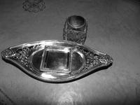 Edwardian Chester silver inkstand 1901 (3 of 8)