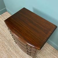 Small Edwardian Mahogany Antique Bow Fronted Chest of Drawers (4 of 8)
