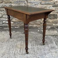 Antique Victorian Walnut Writing Table Desk (15 of 17)
