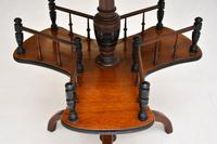 Antique Victorian Mahogany Occasional Table Bookstand (5 of 7)