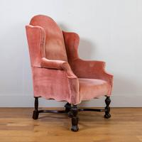 Attractive Large Early 20th Century Wingback Armchair (7 of 13)