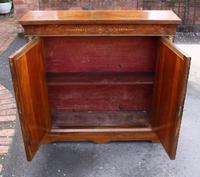 1850's Burr Walnut Pier 2 Door Cabinet with Key (4 of 6)