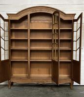 French 3 Door Oak Bookcase or Cabinet (15 of 15)