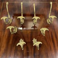 Set of 8 Brass Hat & Coat Hooks (2 of 6)