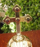 Church Altar Cross with Cabochons c.1860-80 (2 of 14)