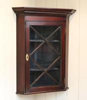 Mahogany Corner Wall Cabinet (6 of 9)