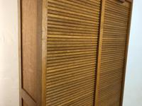 Vintage French Mid Century Double Filing Cabinet Tambour Roller Shutter by G Moreux (8 of 13)