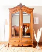 French Antique Style Walnut Armoire / Wardrobe 1940s (2 of 6)