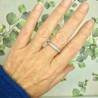 1920s Art Deco platinum diamond wedding band ~ full eternity ring 0.69ct ~ Size P 1/2 / 7.75 (6 of 9)