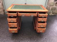 Antique Walnut Pedestal Writing Desk (pri) (8 of 10)