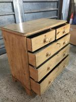 Victorian Large Stripped Pine Chest of Drawers (2 of 6)