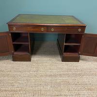 Large Victorian Mahogany Antique Partners Desk (2 of 10)