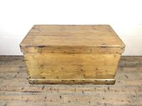 Large Victorian Antique Pine Trunk (14 of 14)