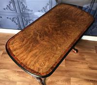 Victorian Burr Walnut & Amboyna Centre Table (11 of 14)