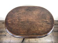 Antique Victorian Mahogany Oval Top Side Table (5 of 10)