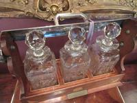 Antique Sheraton Inlaid Three Bottle Tantalus (4 of 12)