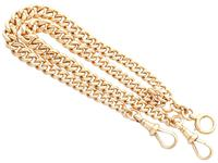 9ct Yellow Gold Double Albert Watch Chain - Antique c.1910 (3 of 12)
