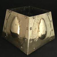Arts and Crafts Pyramid  Shape Brass Planter
