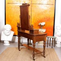Dressing Table Burr Walnut Mirrored 19th Century (3 of 9)