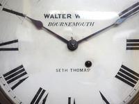 Impressive Victorian American Drop Dial Wall Clock 8 Day Movement Seth Thomas (8 of 12)