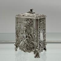 Antique Victorian Sterling Silver Tea Caddy London 1894 George Fox (2 of 12)