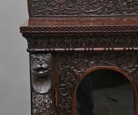 Superb quality 19th Century Burmese breakfront cabinet (10 of 11)