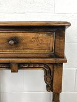 Vintage Oak Side Table with Drawer (5 of 11)