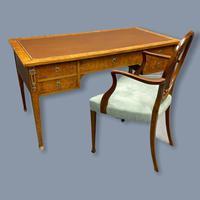 French Burr Walnut Bureau Plat Desk (2 of 9)