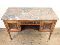 Edwardian Mahogany Sideboard with Marble Top (2 of 9)