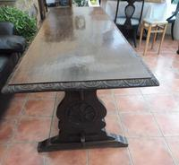 Country Oak Tefectory Table 7 foot long 1880 (9 of 10)