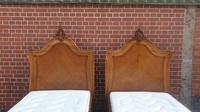 Pair of French Walnut Single Beds (6 of 17)
