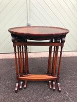 Antique Mahogany Nest 3 Tables (3 of 10)